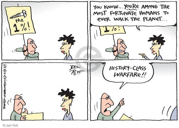 Joel Pett  Joel Pett's Editorial Cartoons 2012-02-23 one percent