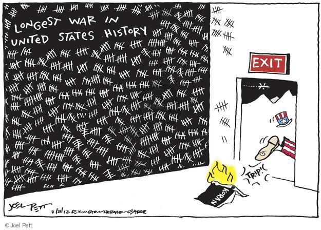 Cartoonist Joel Pett  Joel Pett's Editorial Cartoons 2012-02-29 Afghanistan