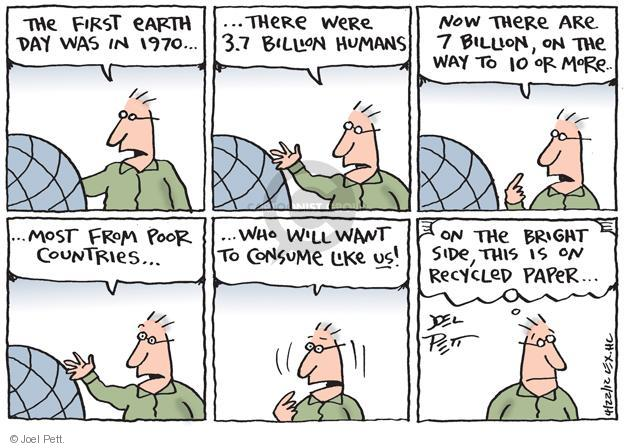 Cartoonist Joel Pett  Joel Pett's Editorial Cartoons 2012-04-22 earth day
