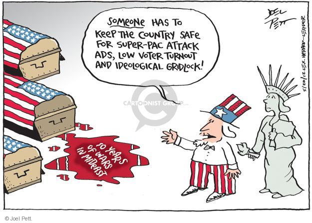 Cartoonist Joel Pett  Joel Pett's Editorial Cartoons 2012-05-20 Afghanistan