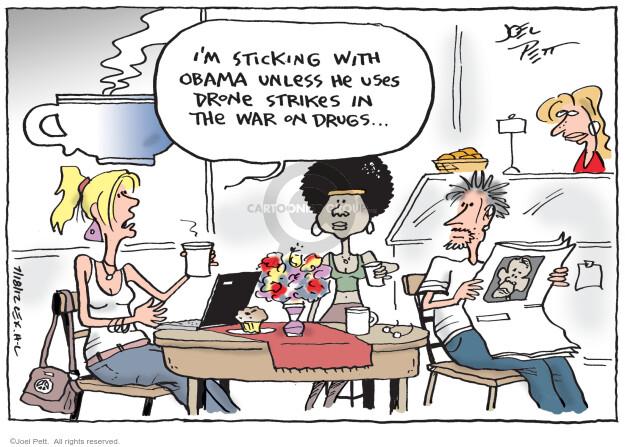 Cartoonist Joel Pett  Joel Pett's Editorial Cartoons 2012-07-18 drone