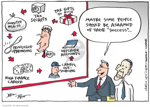 Cartoonist Joel Pett  Joel Pett's Editorial Cartoons 2012-07-19 estate tax