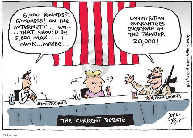 Joel Pett  Joel Pett's Editorial Cartoons 2012-07-26 theater shooting
