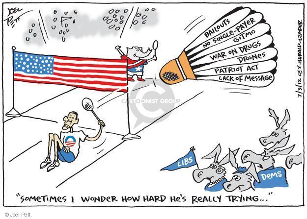 Cartoonist Joel Pett  Joel Pett's Editorial Cartoons 2012-08-03 bailout