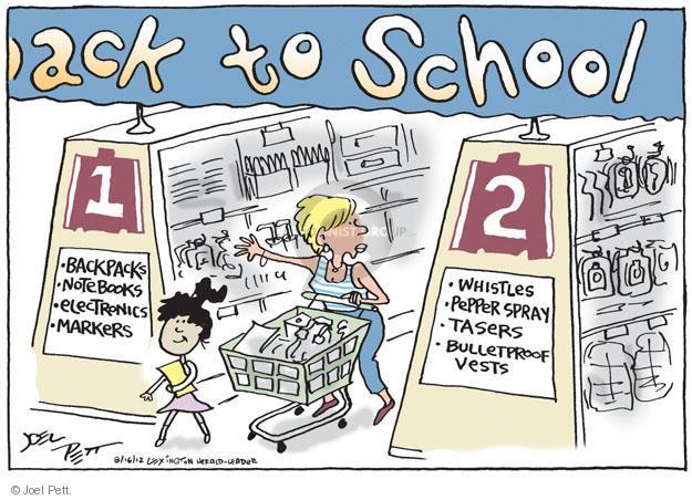 Joel Pett  Joel Pett's Editorial Cartoons 2012-08-16 school