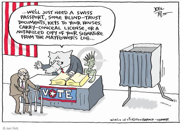 Cartoonist Joel Pett  Joel Pett's Editorial Cartoons 2012-08-20 photo
