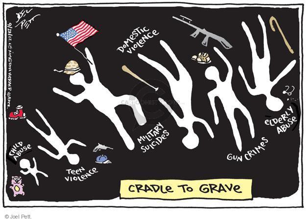 Cartoonist Joel Pett  Joel Pett's Editorial Cartoons 2012-09-28 gun violence