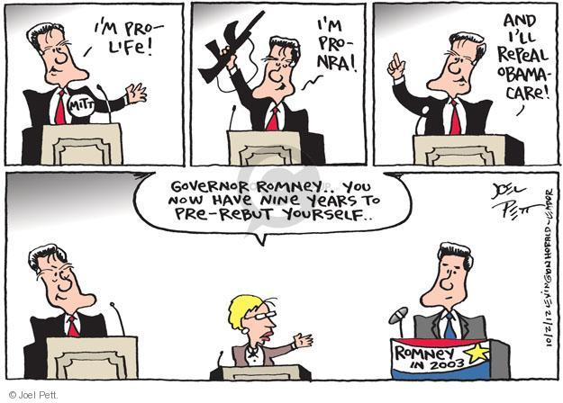 Joel Pett  Joel Pett's Editorial Cartoons 2012-10-02 repeal