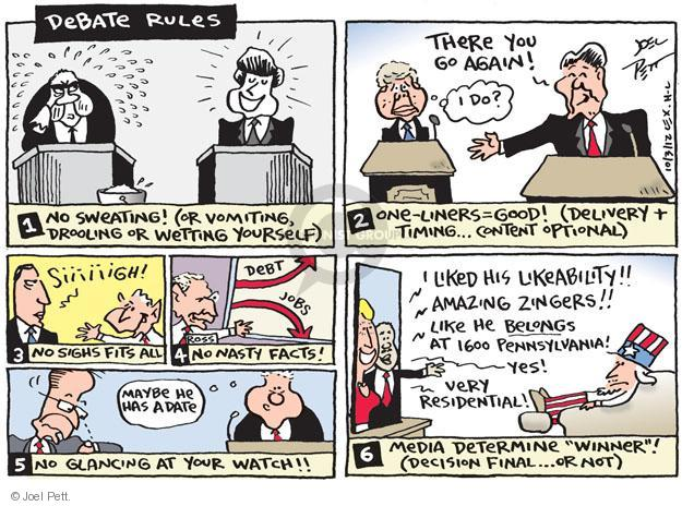 Joel Pett  Joel Pett's Editorial Cartoons 2012-10-03 1600 Pennsylvania Avenue