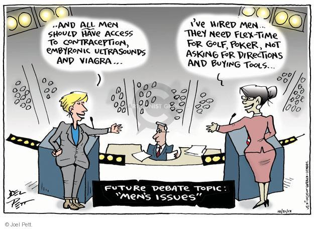 Joel Pett  Joel Pett's Editorial Cartoons 2012-10-21 woman