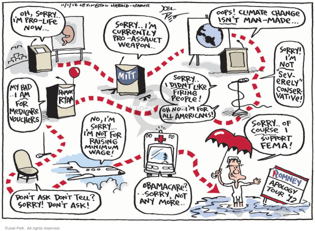 Cartoonist Joel Pett  Joel Pett's Editorial Cartoons 2012-11-01 governor