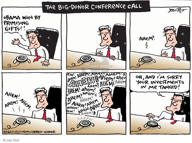 Cartoonist Joel Pett  Joel Pett's Editorial Cartoons 2012-11-16 Obama Romney