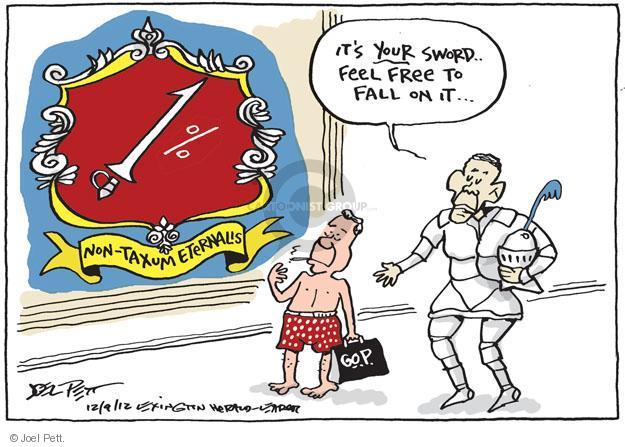 Joel Pett  Joel Pett's Editorial Cartoons 2012-12-09 speaker