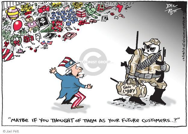 Cartoonist Joel Pett  Joel Pett's Editorial Cartoons 2012-12-18 school shooting