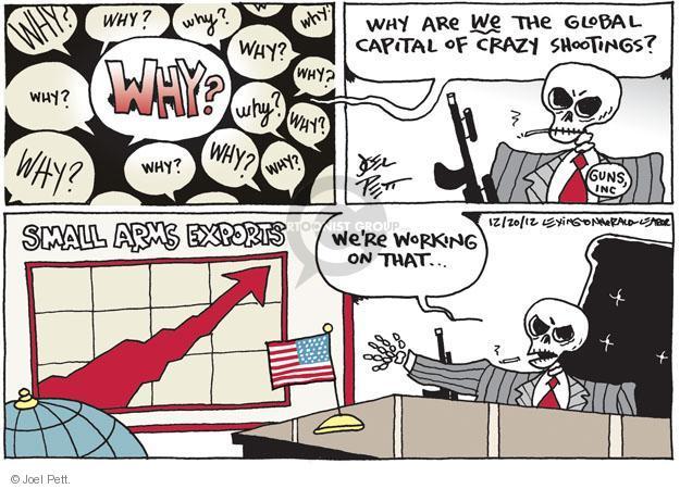 Cartoonist Joel Pett  Joel Pett's Editorial Cartoons 2012-12-20 assault weapon