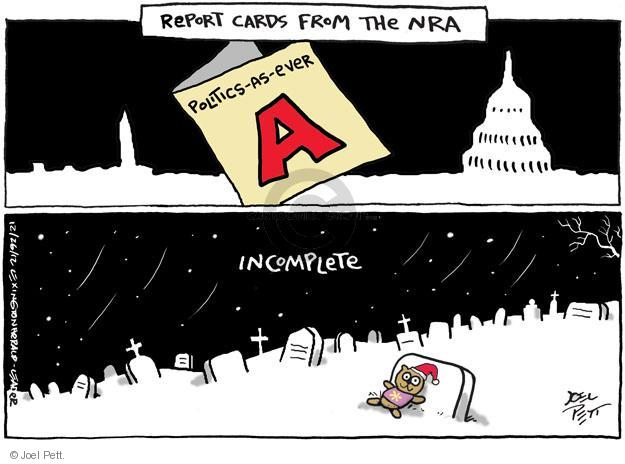 Cartoonist Joel Pett  Joel Pett's Editorial Cartoons 2012-12-26 capitol building