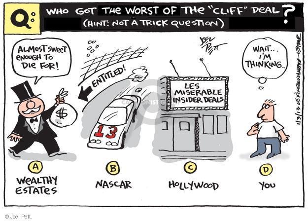 Joel Pett  Joel Pett's Editorial Cartoons 2013-01-03 sweet