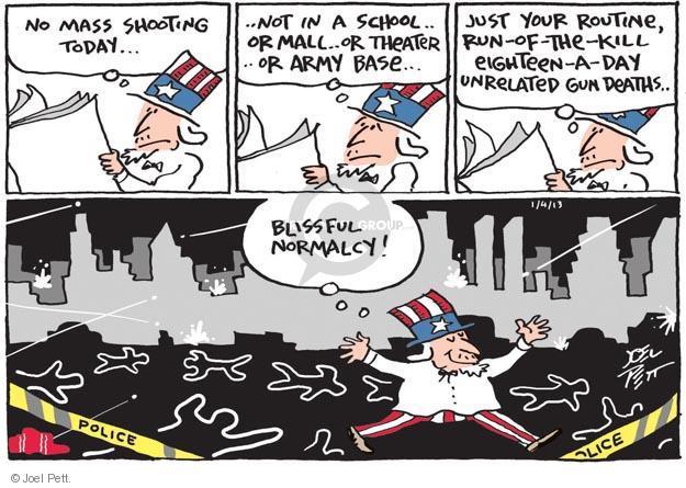 Joel Pett  Joel Pett's Editorial Cartoons 2013-01-04 violence