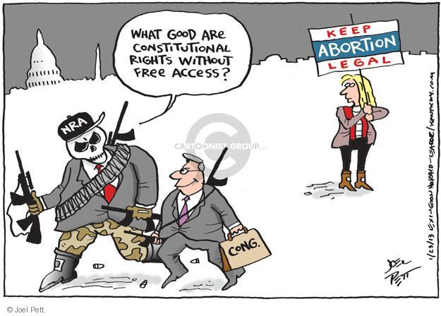 Joel Pett  Joel Pett's Editorial Cartoons 2013-01-23 assault weapon