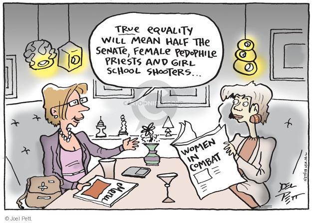 Joel Pett  Joel Pett's Editorial Cartoons 2013-01-27 violent