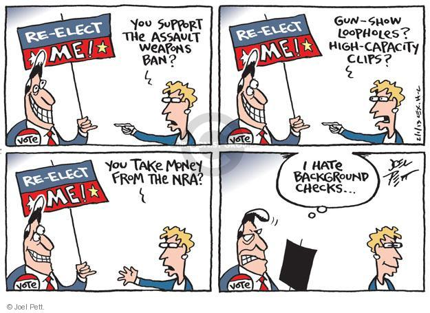 Joel Pett  Joel Pett's Editorial Cartoons 2013-02-01 assault weapon