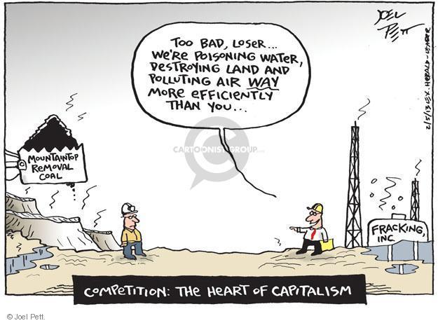 Joel Pett  Joel Pett's Editorial Cartoons 2013-02-05 environment destruction
