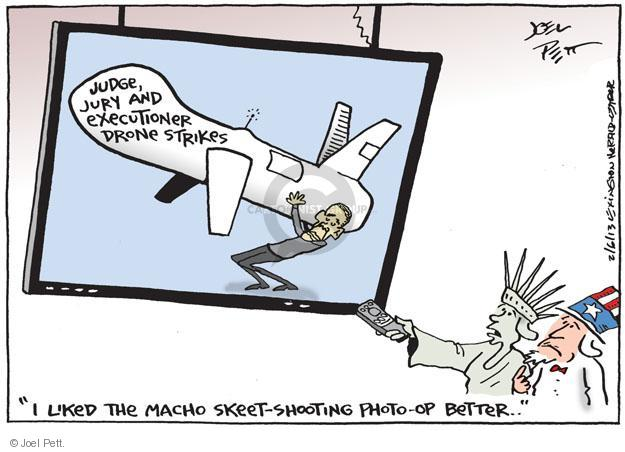 Cartoonist Joel Pett  Joel Pett's Editorial Cartoons 2013-02-06 drone