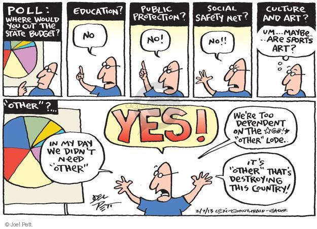 Joel Pett  Joel Pett's Editorial Cartoons 2013-02-07 budget