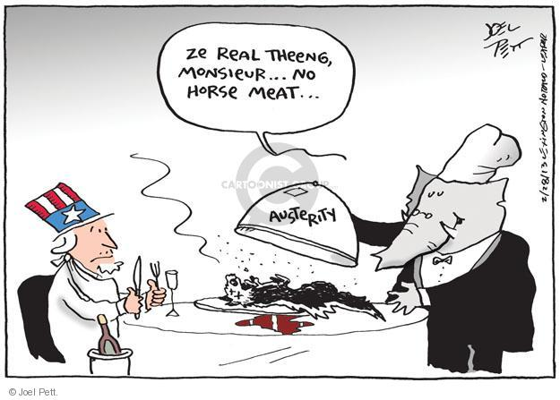 Cartoonist Joel Pett  Joel Pett's Editorial Cartoons 2013-02-28 dead