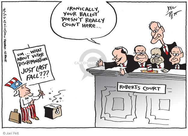 Joel Pett  Joel Pett's Editorial Cartoons 2013-03-02 voting rights