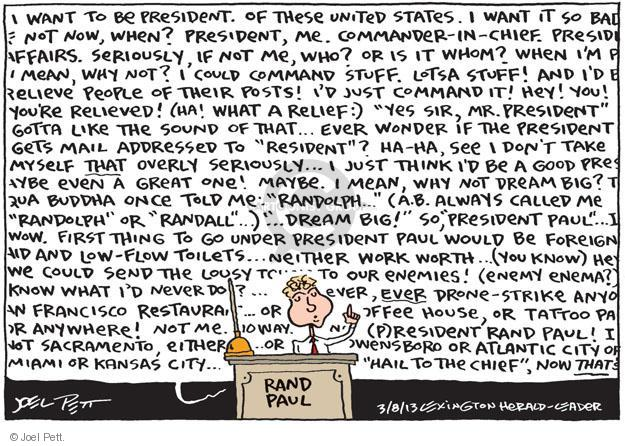 Cartoonist Joel Pett  Joel Pett's Editorial Cartoons 2013-03-08 command
