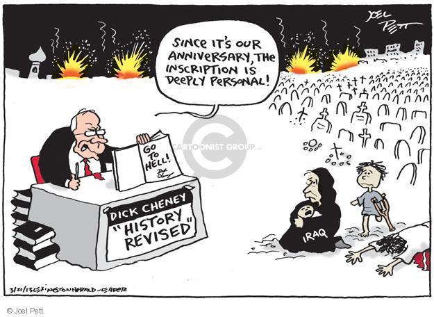Cartoonist Joel Pett  Joel Pett's Editorial Cartoons 2013-03-21 Iraq war