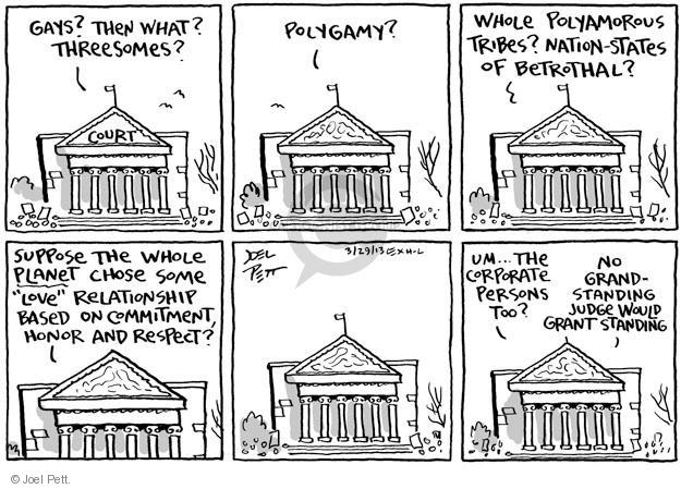 Cartoonist Joel Pett  Joel Pett's Editorial Cartoons 2013-03-29 suppose