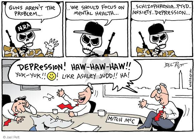 Joel Pett  Joel Pett's Editorial Cartoons 2013-04-12 assault weapon
