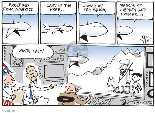 Cartoonist Joel Pett  Joel Pett's Editorial Cartoons 2013-04-14 drone