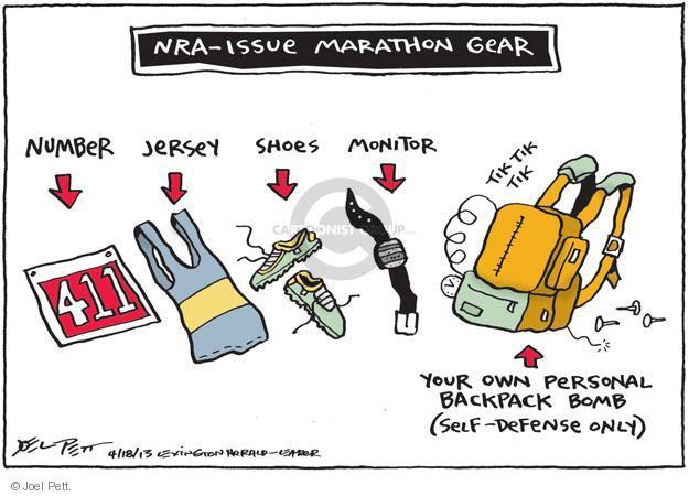 Cartoonist Joel Pett  Joel Pett's Editorial Cartoons 2013-04-18 gun rights