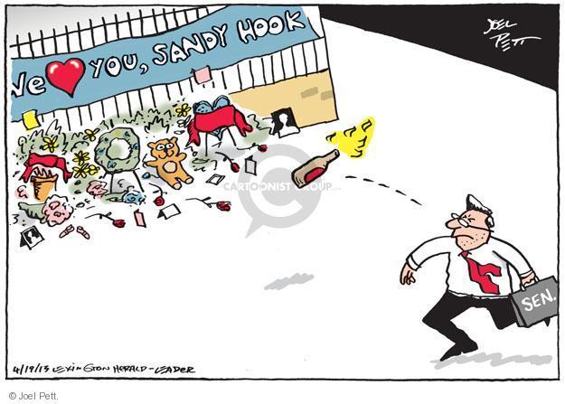 Cartoonist Joel Pett  Joel Pett's Editorial Cartoons 2013-04-19 gun rights