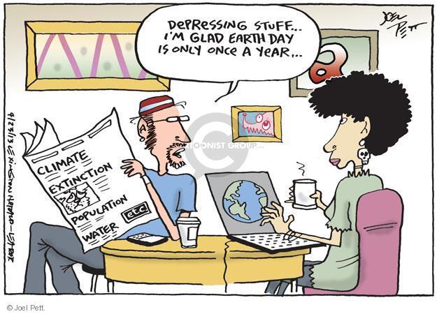 Cartoonist Joel Pett  Joel Pett's Editorial Cartoons 2013-04-23 earth day