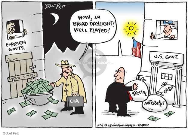 Cartoonist Joel Pett  Joel Pett's Editorial Cartoons 2013-05-01 CIA
