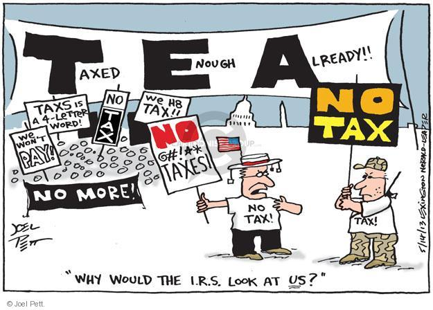 Joel Pett  Joel Pett's Editorial Cartoons 2013-05-14 tax review