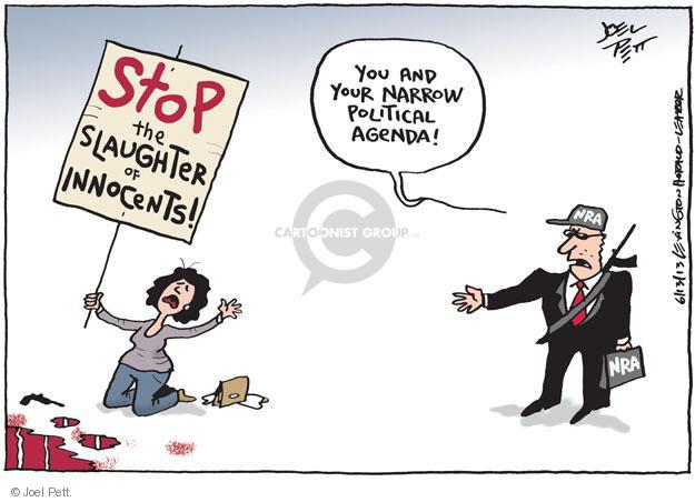 Cartoonist Joel Pett  Joel Pett's Editorial Cartoons 2013-06-13 firearm
