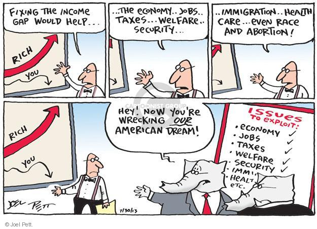 Cartoonist Joel Pett  Joel Pett's Editorial Cartoons 2013-07-30 partisan politics