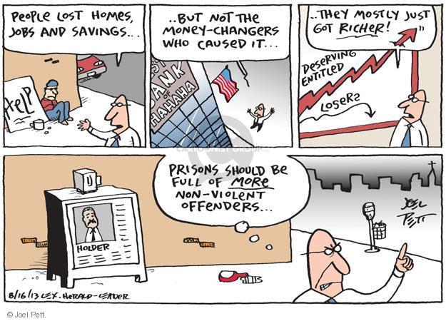 Cartoonist Joel Pett  Joel Pett's Editorial Cartoons 2013-08-16 money