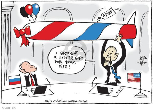 Joel Pett  Joel Pett's Editorial Cartoons 2013-09-06 Vladimir Putin