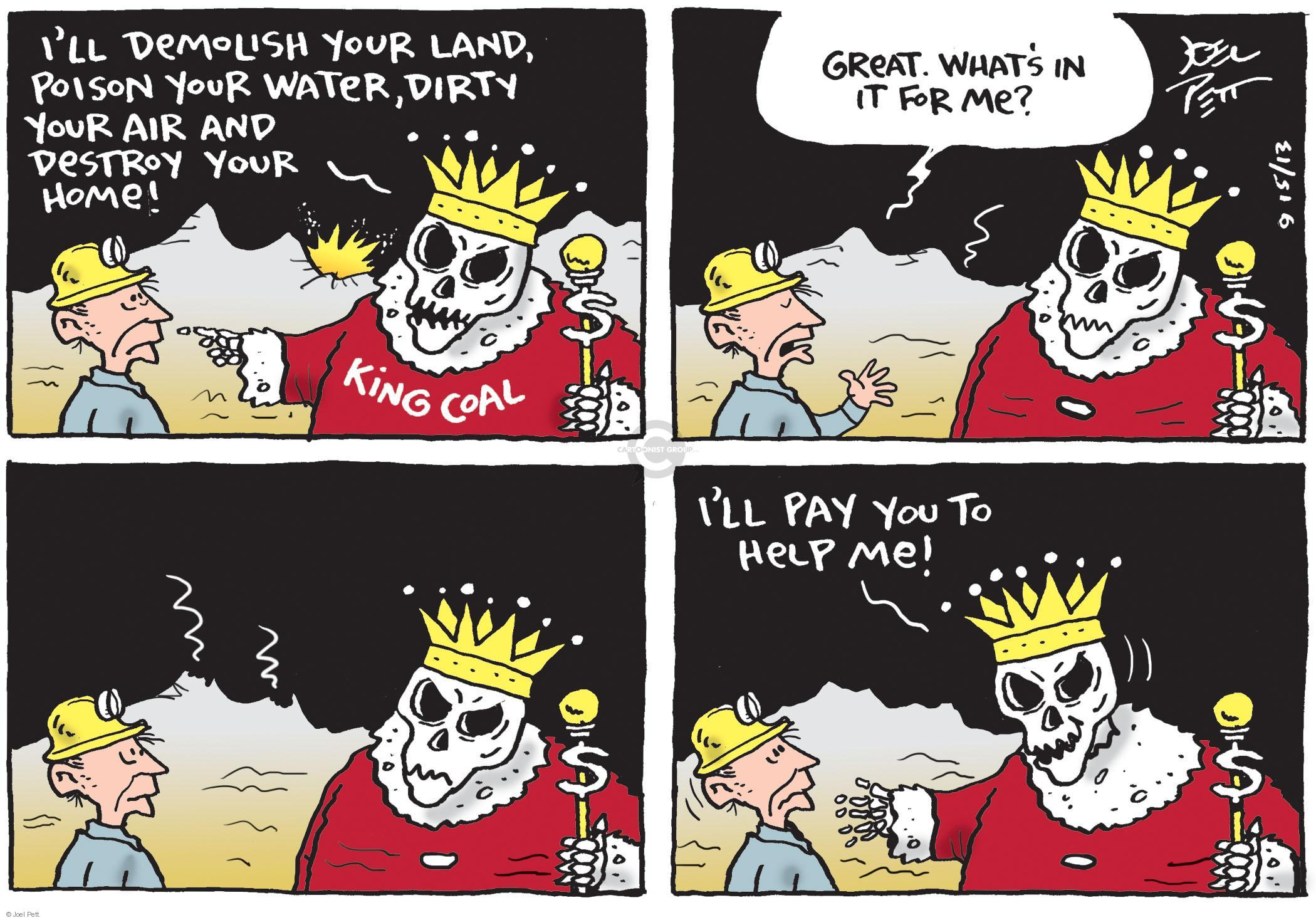Cartoonist Joel Pett  Joel Pett's Editorial Cartoons 2013-09-15 money