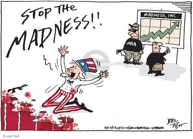 Cartoonist Joel Pett  Joel Pett's Editorial Cartoons 2013-09-17 gun control
