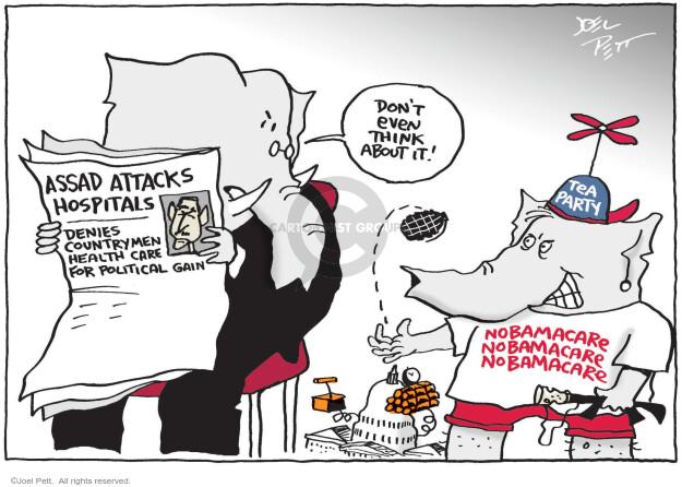 Joel Pett  Joel Pett's Editorial Cartoons 2013-09-18 hospital