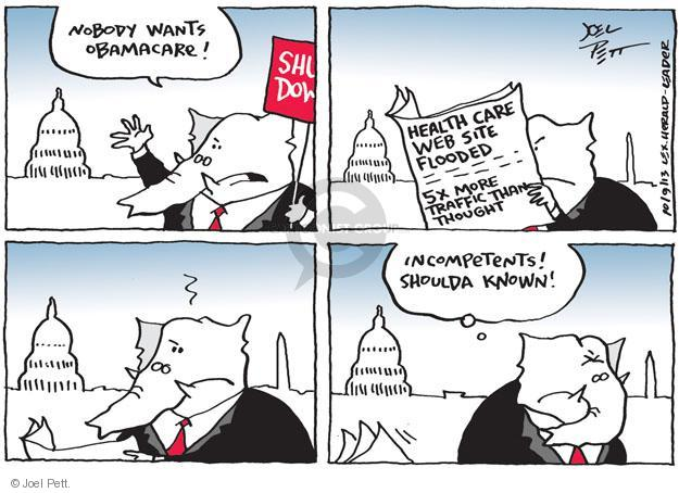 Cartoonist Joel Pett  Joel Pett's Editorial Cartoons 2013-10-09 capitol building