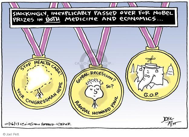 Joel Pett  Joel Pett's Editorial Cartoons 2013-10-16 award