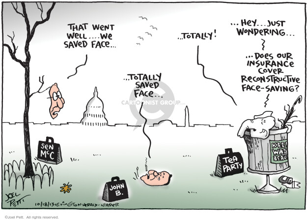 Joel Pett  Joel Pett's Editorial Cartoons 2013-10-18 Mitch McConnell